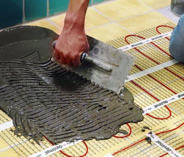 монтаж бетонной стяжки на теплый пол