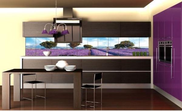 плитка кафельная на кухне модерн
