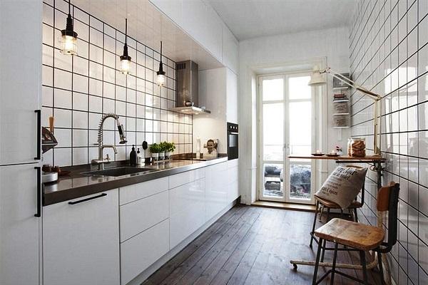 кафельная плитка на кухне минимализм