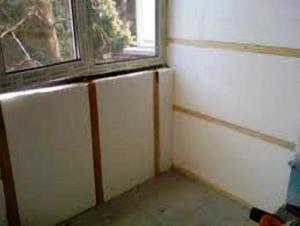 утепление стен в квартире пенопластом