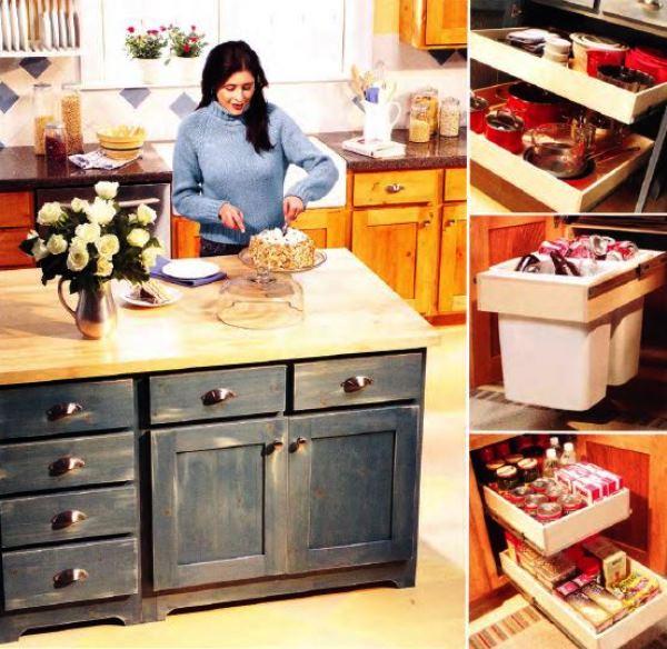 как визуально расширить кухню
