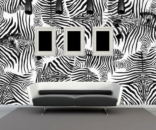 комбинирование черно-белых обоев фото