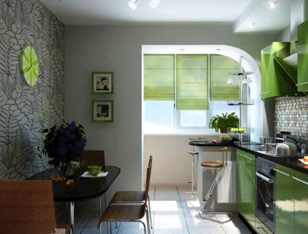 кухня совмещенная с лоджией фото