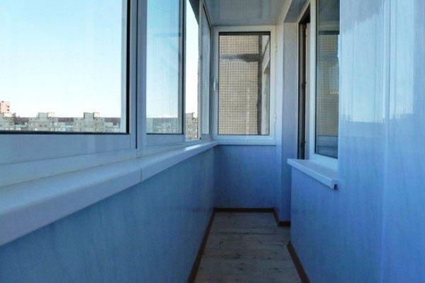 отделка балкона панелями фото