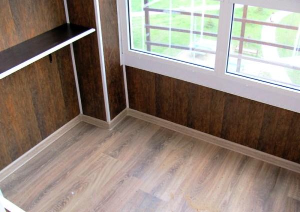 отделка балкона панелями мдф фото